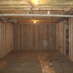 basement stud work