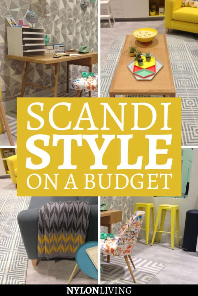 The Scandinavian style is a favorite of mine. Combine it with a mix of mid-century modern furniture and it's even better. It's a style that combine a white/grey neutral scheme with details in bright yellow and geometric prints. However, designer pieces are often very expensive. Check out some Scandi style inspiration for your house on a budget! #yellow #geometric #midcenturymodern #scandinavian #design