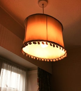 old-fashioned lampshade