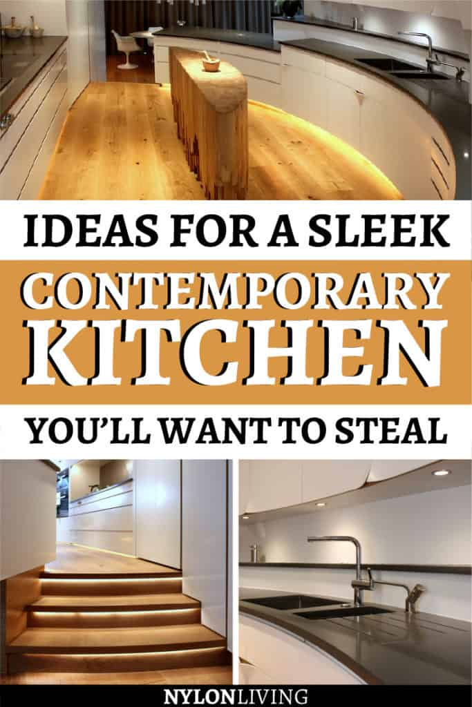 How To Create a Sinuous Contemporary Kitchen