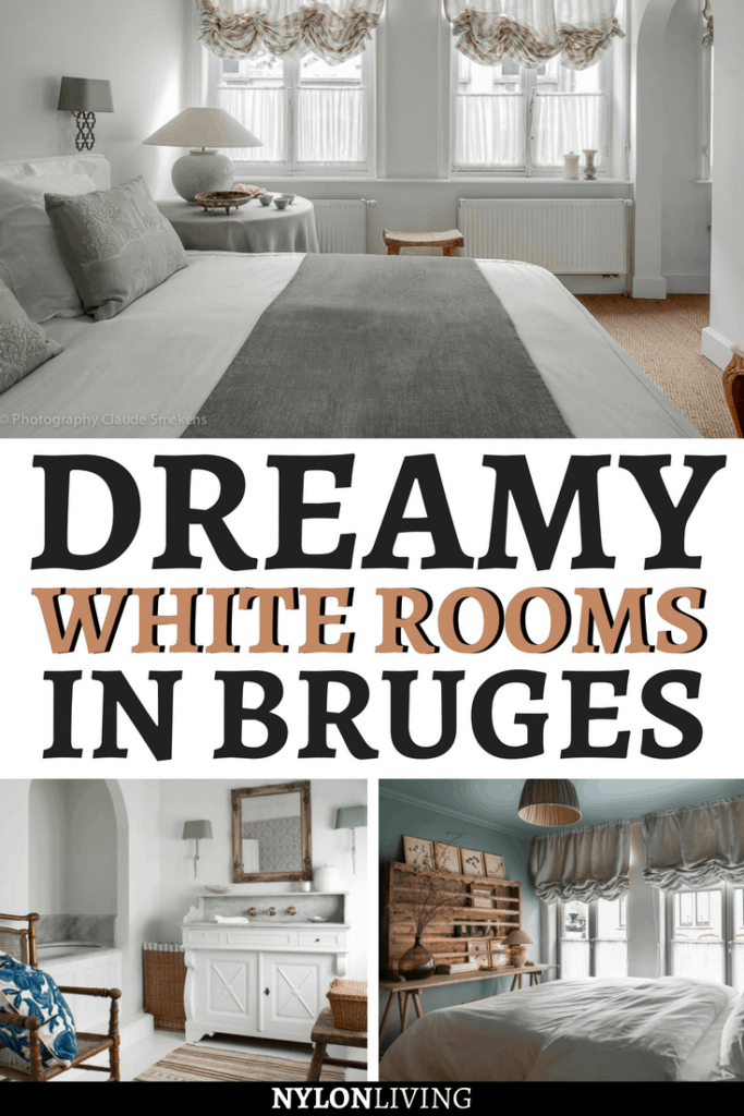 White Rooms guesthouse in Bruges is a project of noted Belgian interior designer, Natalie Haegeman, and oh wow it's beautiful! Check out these photos for some white room decor and pastel palette bedroom inspiration. White, wood, and textutres create a dreamy feeling! #bedroom #bedroomdesign #bedroomdecor #bedroomideas