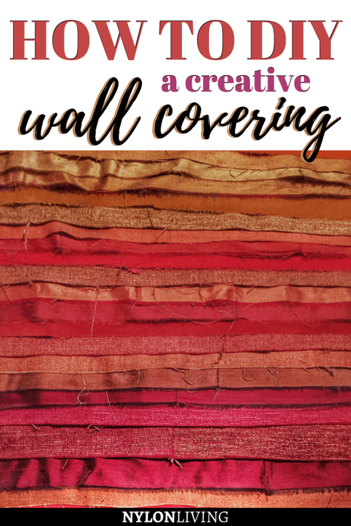 Sometimes the best ideas are the simplest ones, especially when it comes to interior decorating. If you're looking for ideas for a DIY wall decor, check out this very colorful, creative wall covering idea that you can totally DIY - all you need is some strips of raw silk and voila! #wall #walldecor #diy #interiordecorating