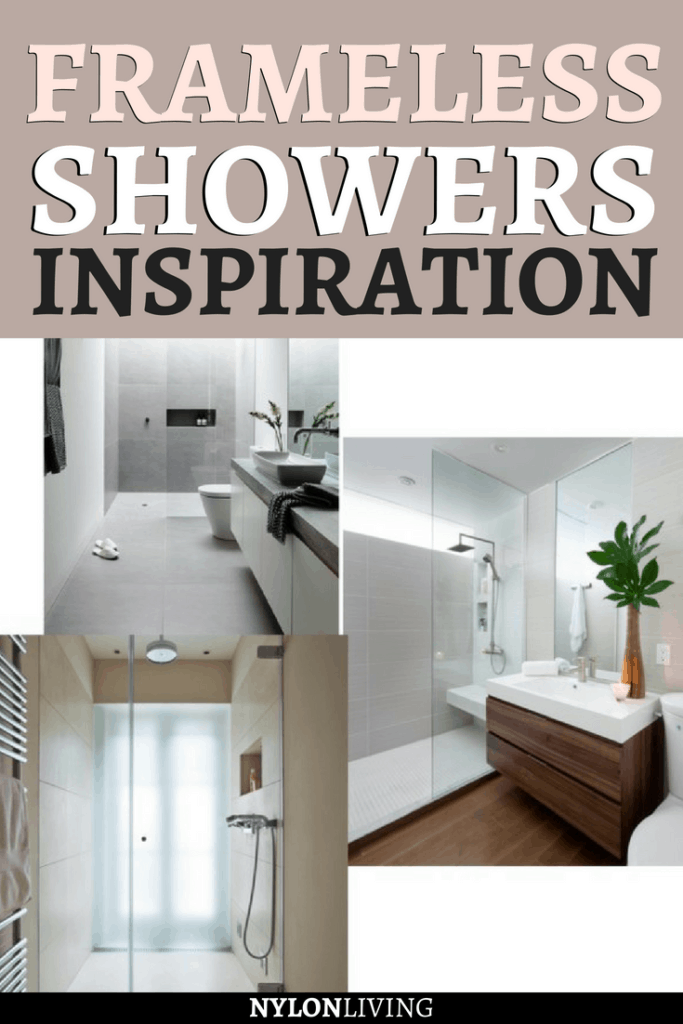 In a small space, a frameless shower is ideal for giving the illusion of space. Check out a few ideas for frameless shower doors & frameless showers design...here a few frameless shower ideas for you. #shower #bathroomideas #bathroomdesign
