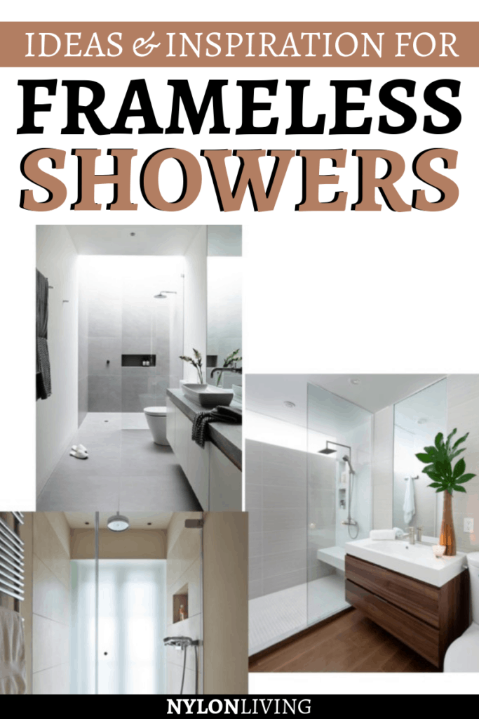 Especially in a small space, a frameless shower is ideal for giving the illusion of a bigger space. Check out a few ideas for frameless shower doors & frameless showers design.. Here you'llfind a few frameless shower ideas for you. #shower #bathroomideas #bathroomdesign #showerdesign