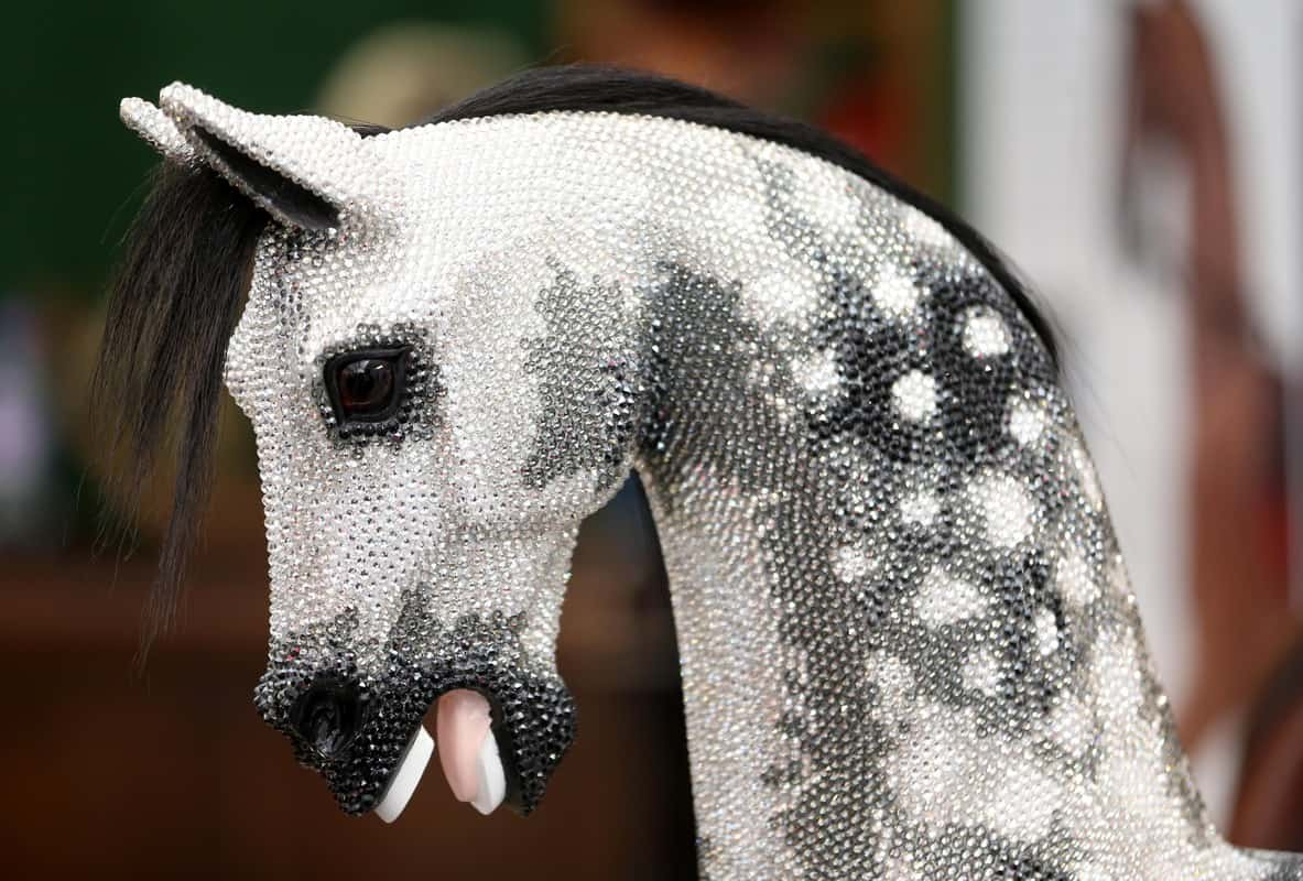 The Stevenson Brothers Rocking Horses created this Swarovski Crystal encrusted rocking horse.