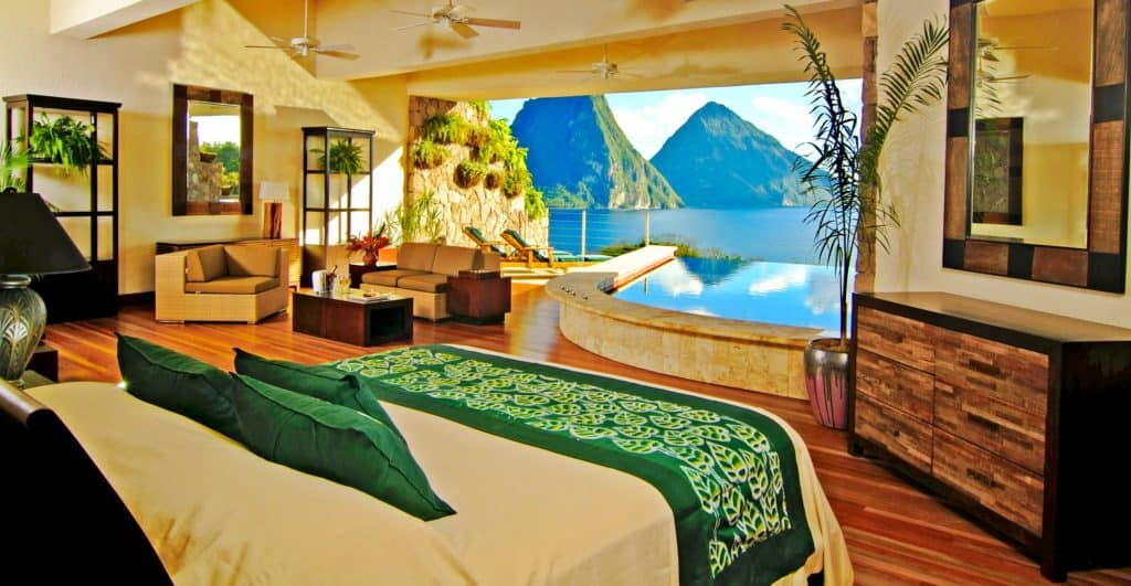 Romantic Plantation Style Home Inspiration at Jade Mountain in St Lucia