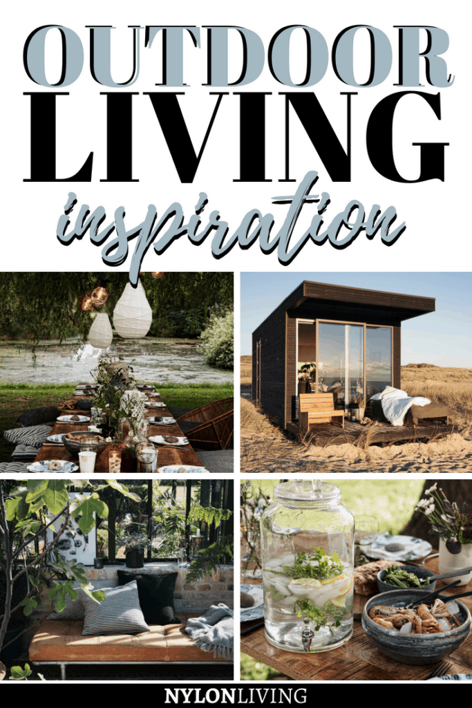 Do you have a tiny backyard, a garden, or you are planning an outdoor event? Click for some outdoor living space inspiration and urban backyard ideas, brought to you by House Doctor, a Danish lifestyle brand that brings affordable Scandinavian style to your home. These outdoor living ideas are all beautiful! #urbanbackyard #outdoorfurniture #outdoorspaces #outdoorliving #scandinavianhome #scandinaviandesign