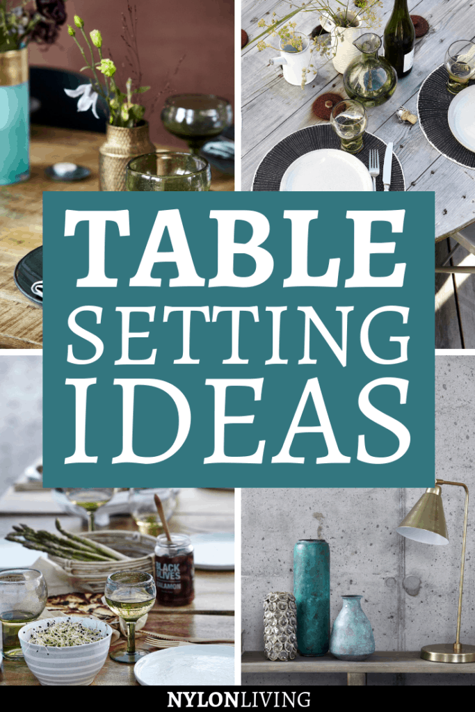 Check out some table setting inspiration by the Danish lifestyle company House Doctor, which I absolutely love. Flower arrangements, natural materials, and pairing gold with black and white are just some of the table setting decor ideas you can recreate in your own house Looking for inspirational table setting ideas? Then don't miss this post. #tablesetting #tabledecor #tablerunner #danishdecor #nordicdesign