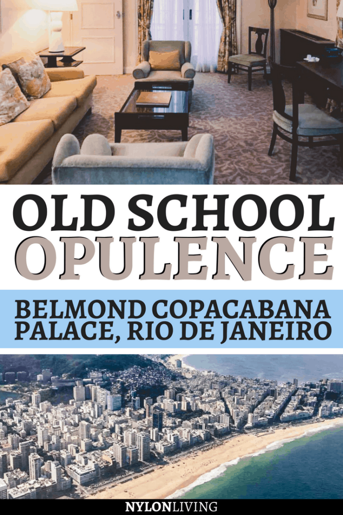 If you are wondering where to stay in Rio de Janeiro and like the traditional South American luxe style, then Copacabana Palace hotel by Belmond is the perfect hotel for you. The Art Deco hotel was opened in 1923 and it's a 5-star, opulent hotel. Check out why i loved my stay here and you will too at one of the best hotels in Rio de Janeiro. #hotel #luxuryhotels #riodejaneiro #brazil #copacabana