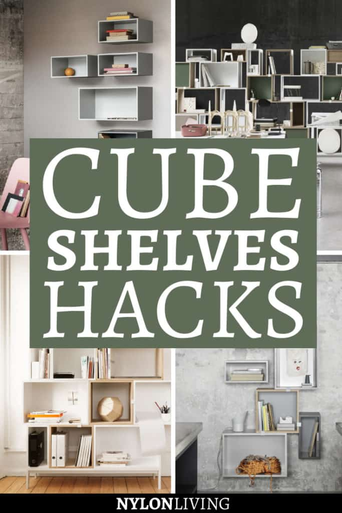 Do you have a lot of things to display but don't want the bulk of traditional shelves? I feel you. Then, cube shelves are a design trend made for you: check out 7 ideas for cube shelf decor. Find inspiration for cube shelf ideas and how to organise your belongings. #cubeshelves #shelves #ideas #organize #interiordecorating