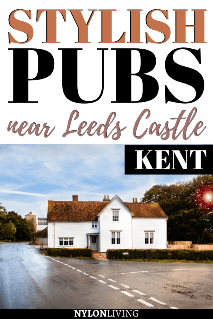 Leeds Castle in Kent is the perfect destination for a day trip or a weekend away. Looking for the best pubs near Leeds Castle, Kent? Barrow House is one of the most stylish pubs in the county of Kent, England. This gorgeous pub & inn offers fantastic food, stylish pub interiors and design bedrooms if you want to spend the night: go check it out! #pub #inn #kent #england