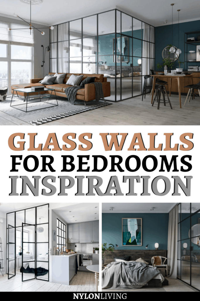 How about if we use steel windows to partition the space and create glass walls for bedrooms? Here are two examples of such daring design, one from Kiev and the other from Stockholm with a glass walls divider. Check out these ideas and get some inspiration for glass walls decor. #glasswalls #bedroomideas #bedroomdesign #bedroomdecor #bedroom
