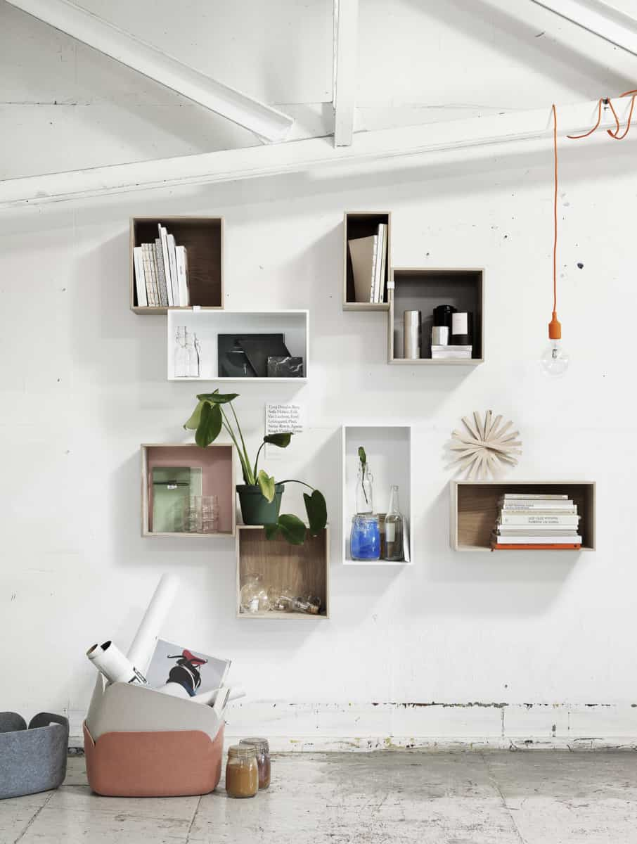 Think of cube shelves as a new way to create a gallery wall.