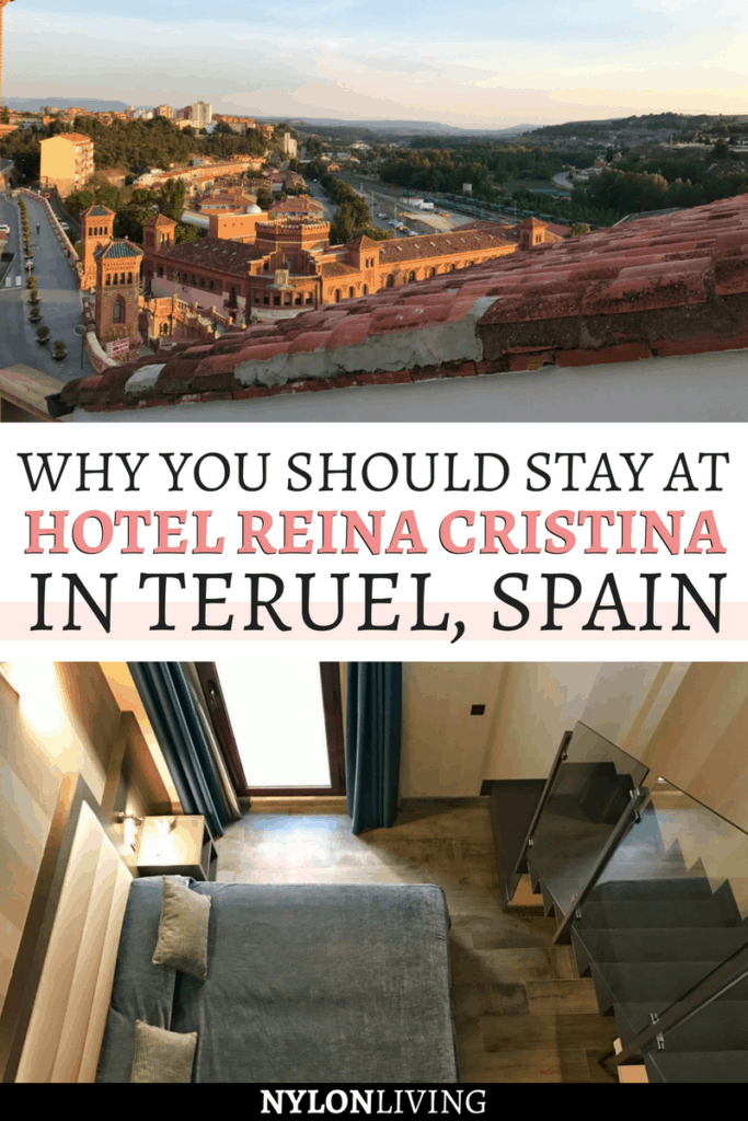 Heading to Teruel, Spain, in Aragon? Check out why you should stay at Hotel Reina Cristina, especially if you're traveling to Spain with kids. Not only does Teruel have a lot to offer in itself but the hotel is also near Dinopolis, Europe's largest Dinosaur museum, and offers duplex rooms perfect for families! And that view… #spain #kidfriendly #hotel #travelling - via @nylonliving