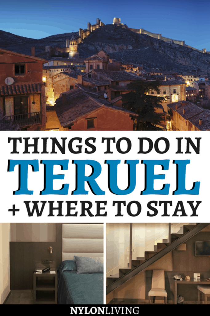 If you're heading to Aragon, Spain, then Teruel it's worth a stop. Check out the best things to do in Teruel, Spain + where to stay in Teruel. Attractions include Dinopolis, Europe's largest Dinosaur museum, charming villages, and beautiful architecture. Discover also why we loved Hotel Reina Cristina, especially if you're traveling to Spain with kids. #teruel #aragon #spain #kidfriendly #hotel