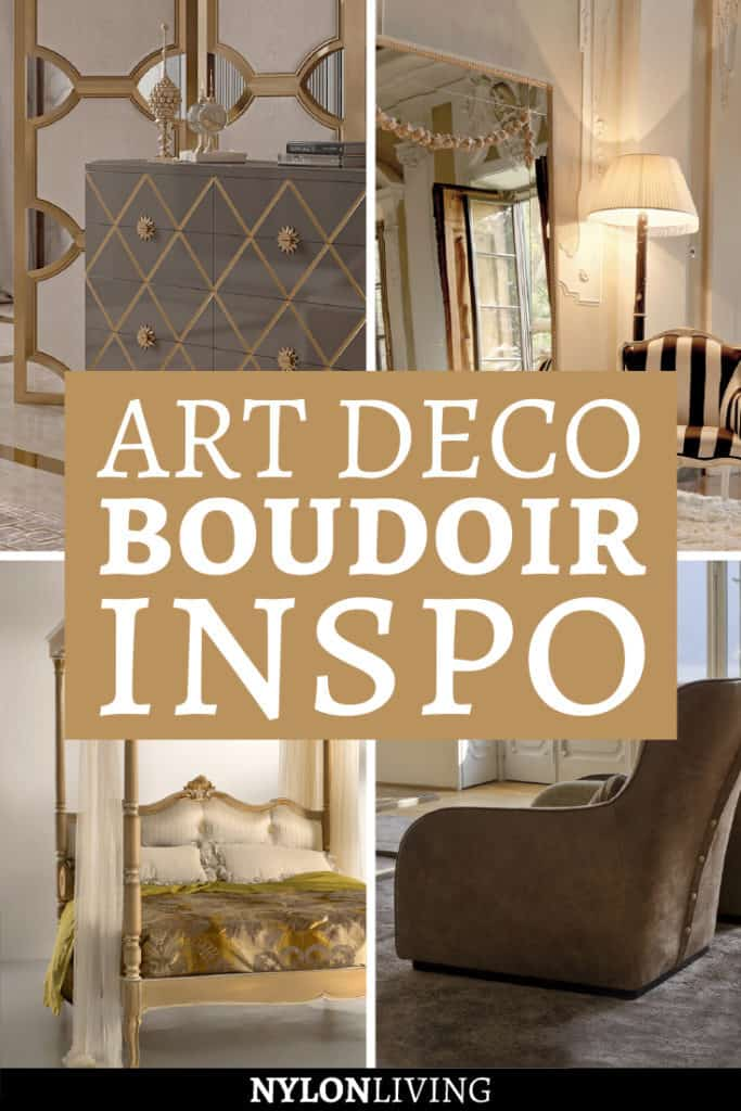 Have you ever wished you had your own, very private boudoir to relax in? Learn how to how to create an art deco inspired bedroom i this post. Get some inspiration from this beautiful and excessive art deco inspired decor and decide how to decorate your perfect boudoir. #artdeco #bedroomideas #bedroomdesign #bedroomdecor #bedroomgoals