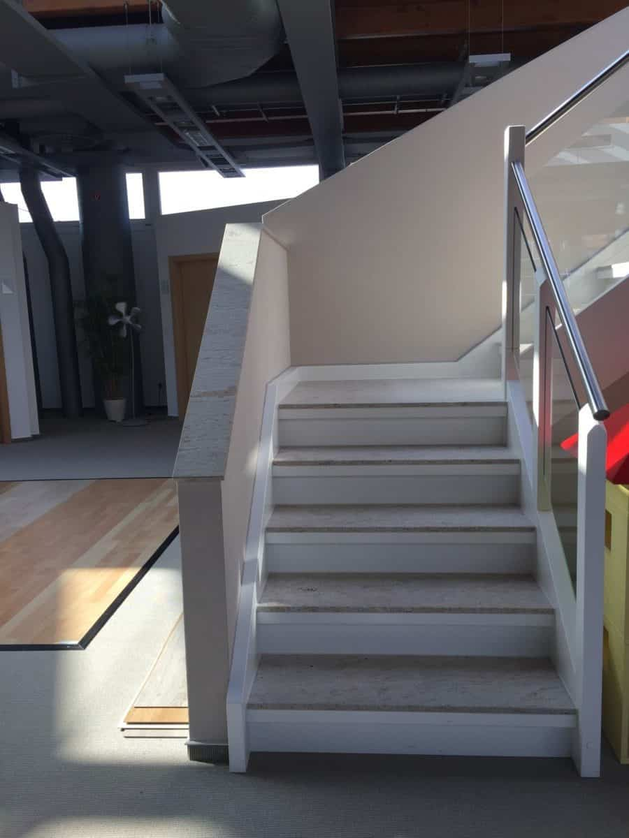 A White Corian Staircase Style | Stair Materials | Modern Stair Banister  Ideas | Wood And