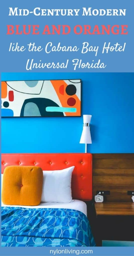 How To Rock Teal and Orange Decor Like The Cabana Bay Hotel | teal decor | turquoise home decor | teal living room