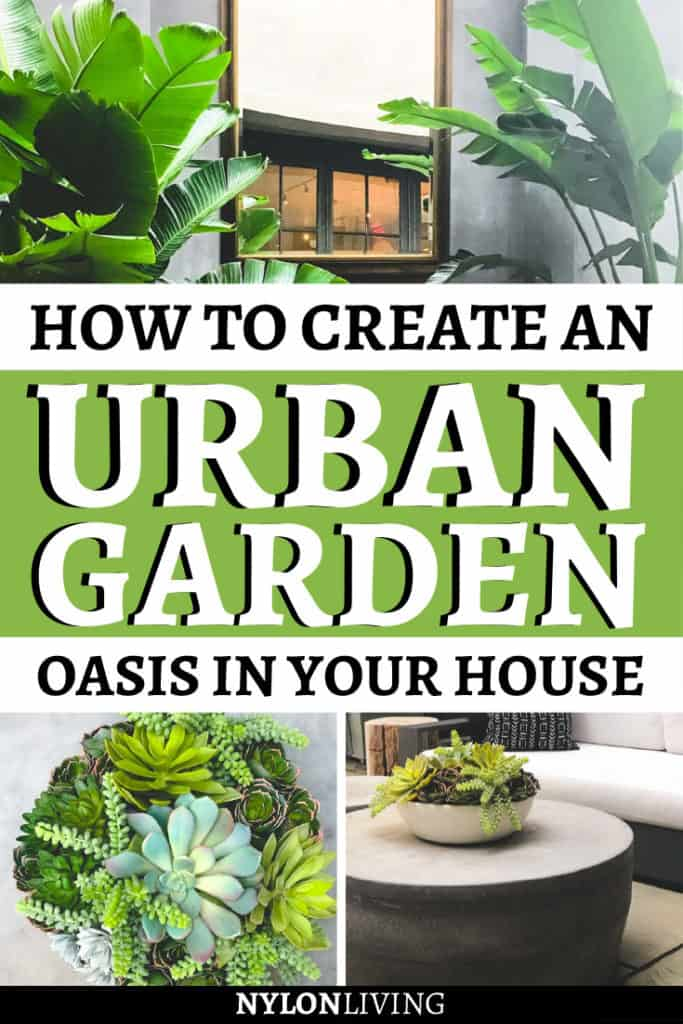 If you've always dreamt of creating a garden room in your own house, you've come to the right place. Plants, concrete, lounge chairs and the sound of falling water: check out a few ideas for your very own indoor urban jungle. I visited the Urban Garden Room at RH Gallery in Houston and left with some wonderful garden room ideas... #urbangarden #indoorjungle #decorideas #interiordesign