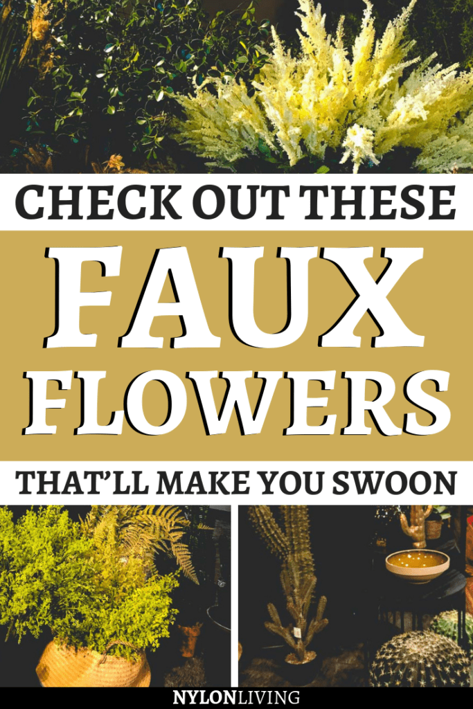 I'll never stop saying it. Faux flowers can totally make a difference and change the mood of a room. Looking for some inspo for dark and moody interiors for your home? Then you need to check out these faux flowers decor ideas inspired by the Abigail Ahern interiors shop in Islington, London. They are so cool! #fauxflowers #fakeflowers #interiorlovers #interiordecorating #interiordetails #decoratingideas #flowers