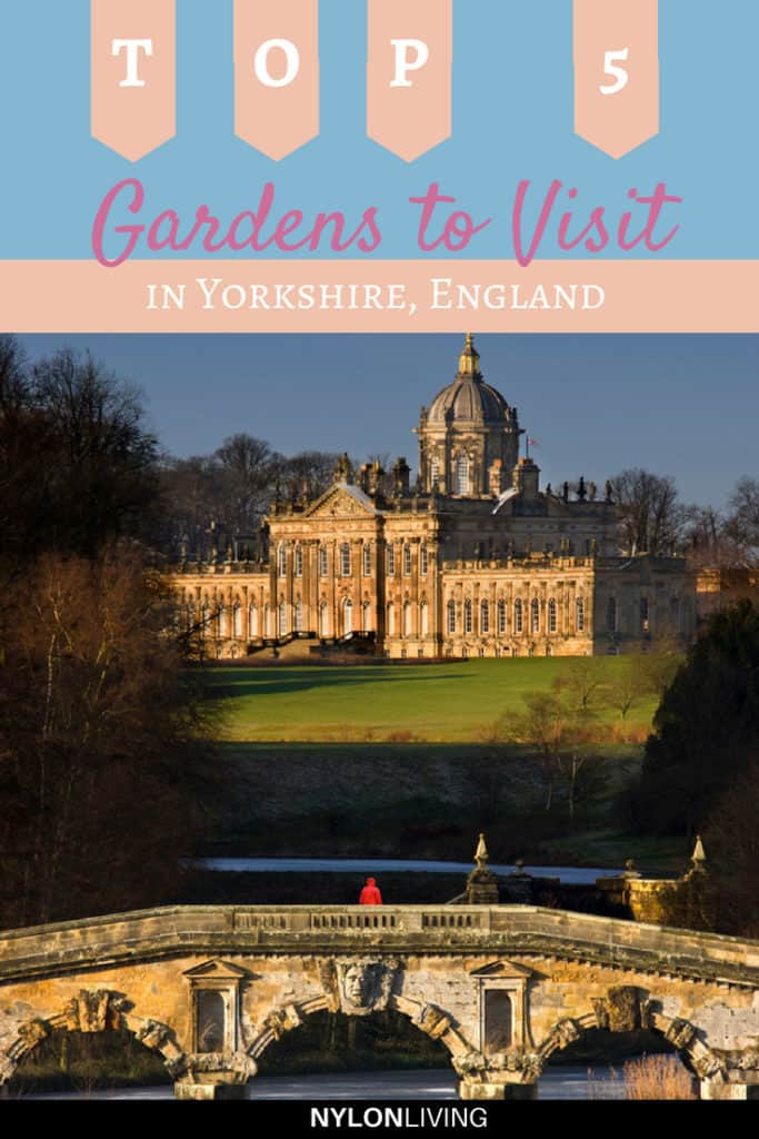 The region of Yorkshire in the UK is so underrated. Last time I visited the Chelsea Flower show, I was blown away by the Yorkshire Show Garden. In this post, find some garden inspiration and discover 5 gorgeous Yorkshire gardens that you can't miss. #yorkshire #england #uk #gardens #gardenideas