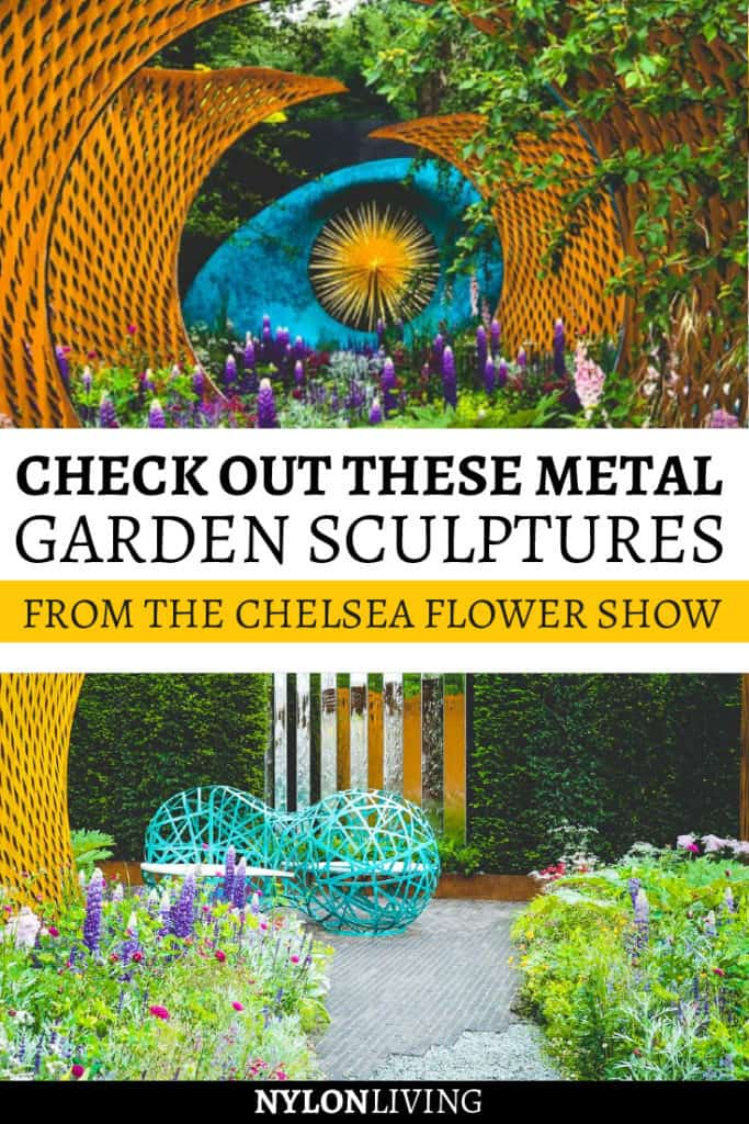 The Chelsea Flower Show is always over the top, and last year it didn't disappoint. This particular show garden had large metal garden sculptures surrounded by planting… and wow! That was impressive. Check out a few garden ideas, and leave with some awesome garden design inspiration from this theatrical place with garden metal art. #gardens #gardendeco #gardenideas #gardenart