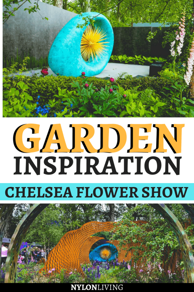 The Chelsea Flower Show is always so dramatic! Check out a few garden ideas, and leave with some awesome garden design inspiration from this theatrical place with garden metal art. #gardens #gardendeco #gardenideas #gardenart