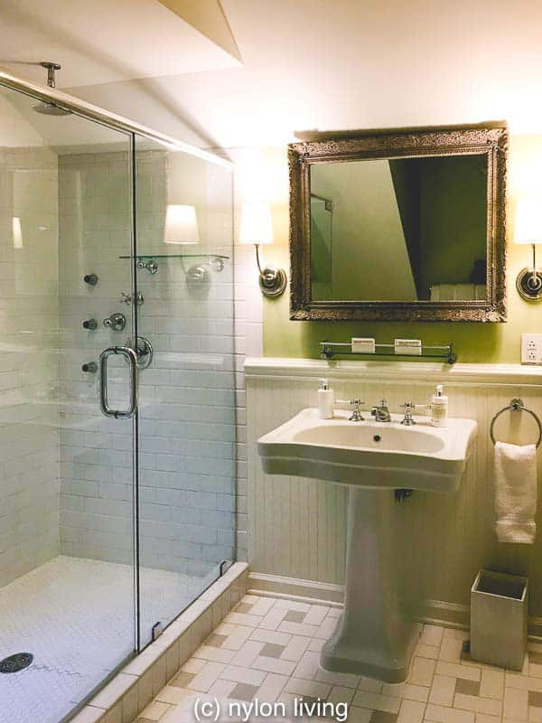 A giant walk-in shower at The Clifton VA