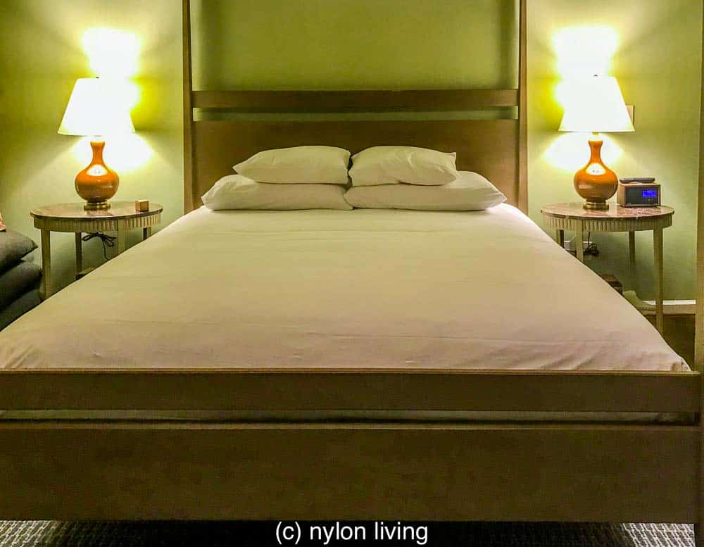 A super-comfortable bed at the Clifton Inn