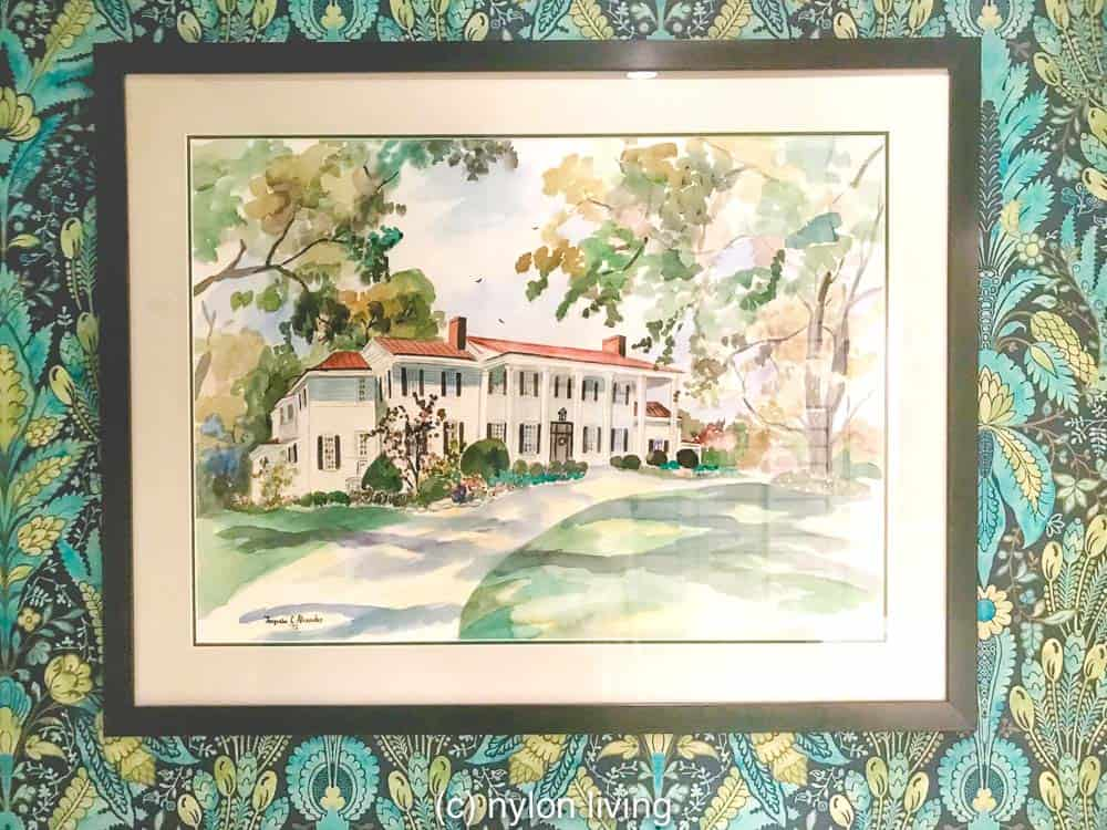 A sketch of the main house of The Clifton Charlottesville