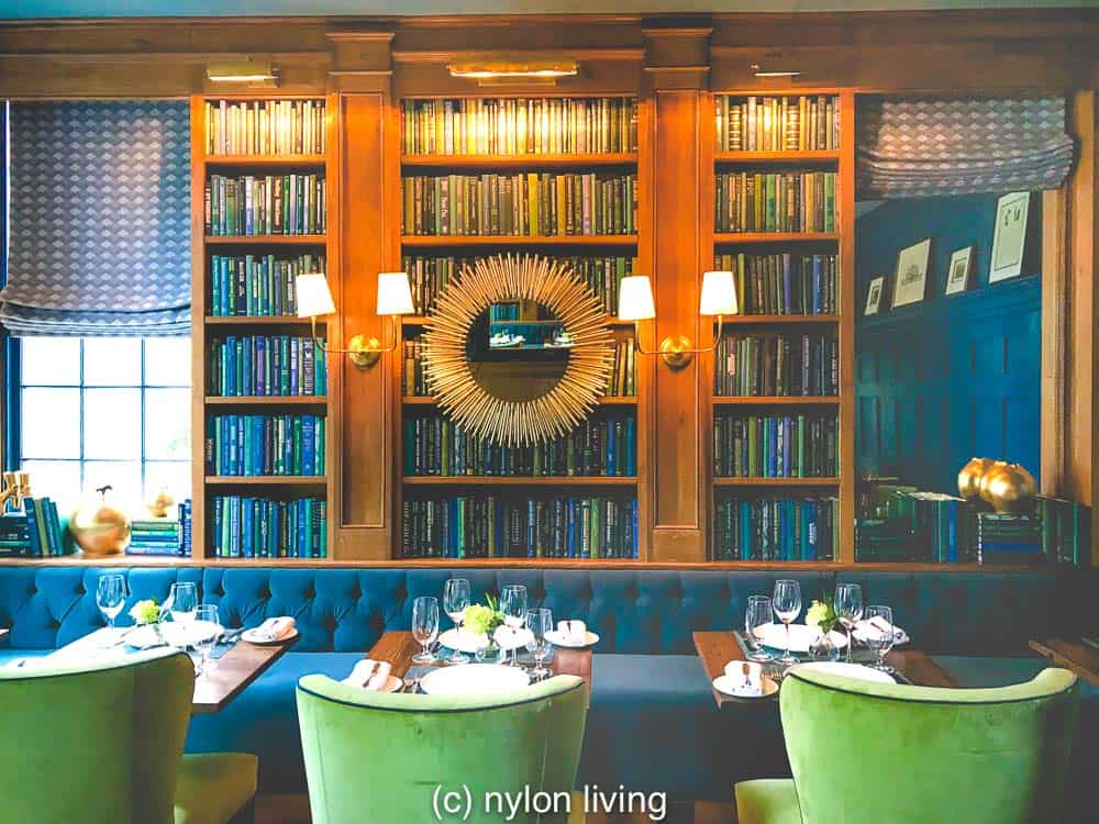 The library-styled dining area of The Clifton Inn VA