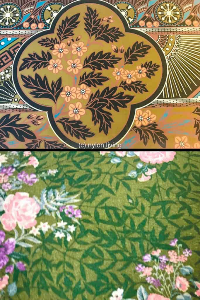Two ways for a pink and green floral pattern