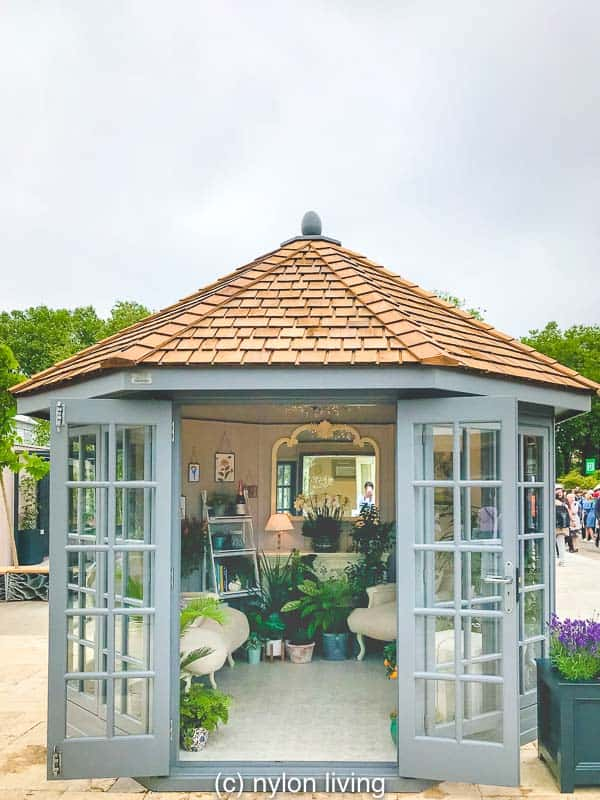 A hexagonal summer house from a selection of summerhouses UK