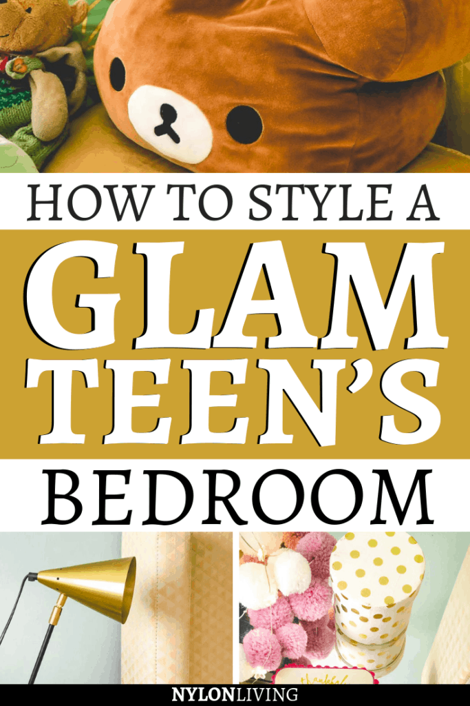 Who said it's easy to decorate a teenage girl bedroom? Teenagers are notoriously difficult. For example, m y daughter wanted a sparkly room but she also loved the lighter shades of greens and blues, so we decorated it with a mix of soft greens and gold. In this post you'll find a few teenage girly bedroom ideas & inspiration & mint green bedroom ideas and inspiration for a glam bedroom decor. #teenagebedroom #teenagegirlbedroomideasdiy #bedroomsideas