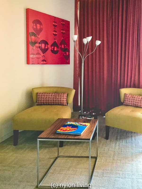 The other set of mid-century modern colors are more earthy than bright