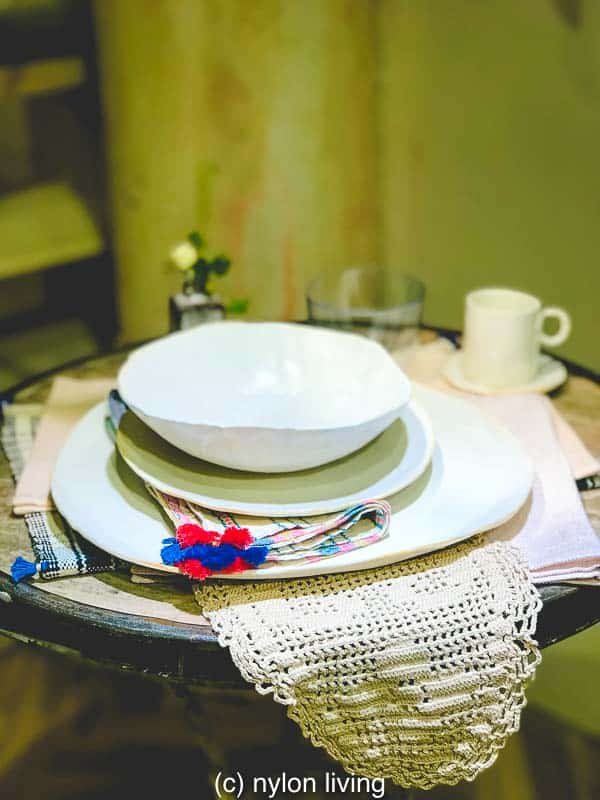 Who said boho table setting for one was for the sad and lonely?