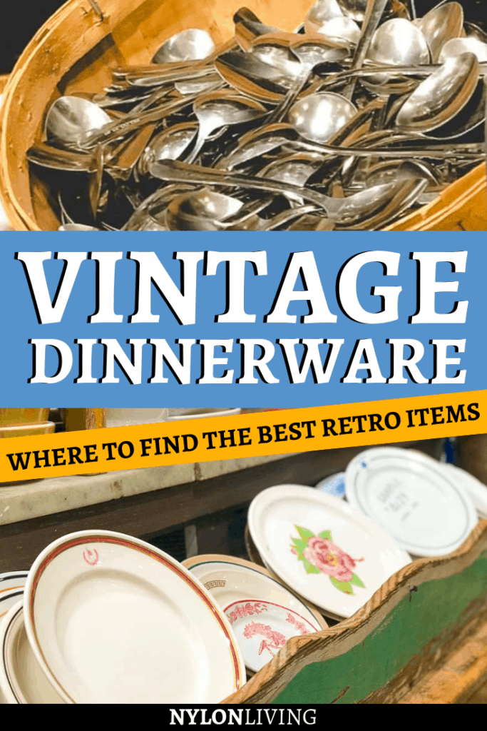 Do you need retro kitchen items for a vintage home? Or maybe, your style is more cool contemporary and vintage dinnerware sets will add character to your dining table. Either way you will love Fishs Eddy NYC, that sells unused retro kitchenware as well as quirky contemporary items. #vintage #vintagedecor #vintagedinnerware #retrohomedecor