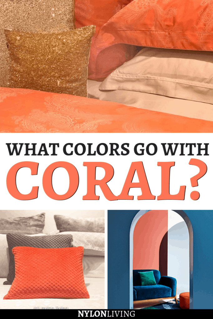 So have you heard that Living Coral is the Pantone Colour of the Year for 2019? But what are coral complimentary colors? Paired with neutrals, a coral color scheme really packs a punch. Try adding coral to gray for a softer look. Also, coral color works well with strong colors like teals and navys. Check out the best coral combinations colour palettes. #coral #livingcoral #pantone #pantone2019 #pantonecolor #pantonecoloroftheyear #colorcombos #colorcombinations