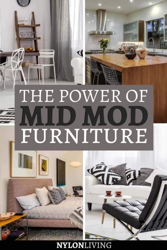 Oh, the power of mid mod furniture. It can totally transform a cookie cutter home into a design dream. Mid century modern chair styles fit seamlessly into any modern interior and other mid mod pieces such as the Marshmallow sofa and the Noguchi coffee table will give an edge to your home. #iconic #midmod #midmoideas #midmodfurniture #chair #chairdesign #lecorbusier
