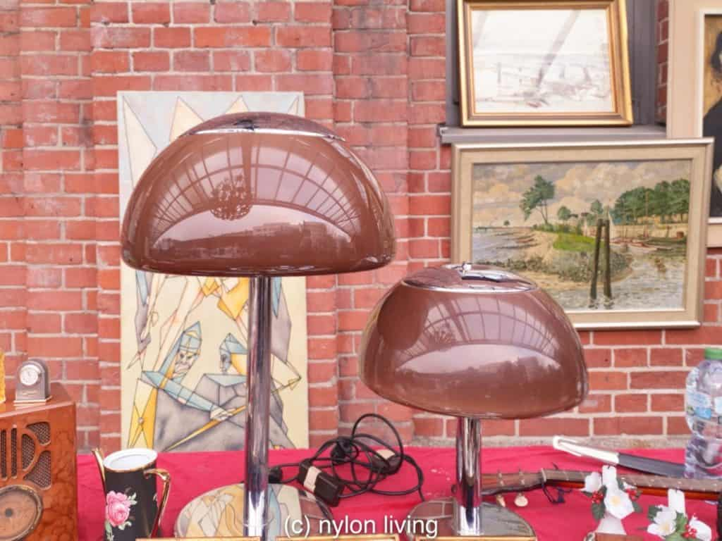 Mushrooms lamps at a vintage fair in Germany which birthed the Bauhaus Movement.