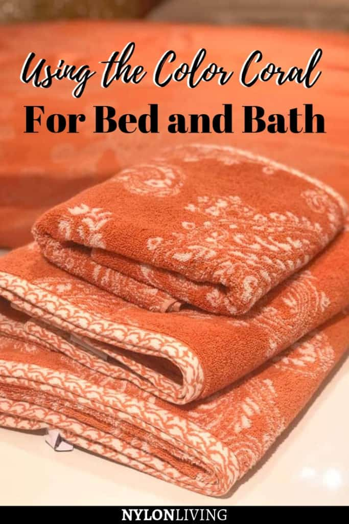 Using a coral peach color for bed, bath and nursery and making it contemporary
