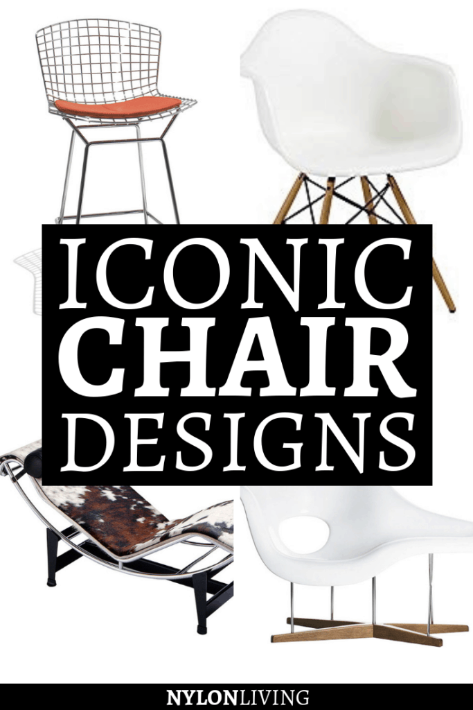 Who wouldn't love an architect-designed modern masterpiece home? Check out 10 iconic chair designs that will give an edge to your home. From the iconic chair Le Corbusier to the Barcelona chair, these chairs are a must have! #iconic #chair #chairdesign #lecorbusier