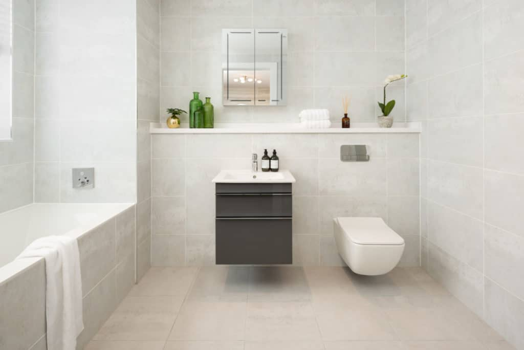Modern bathrooms from Cala Homes Edinburgh