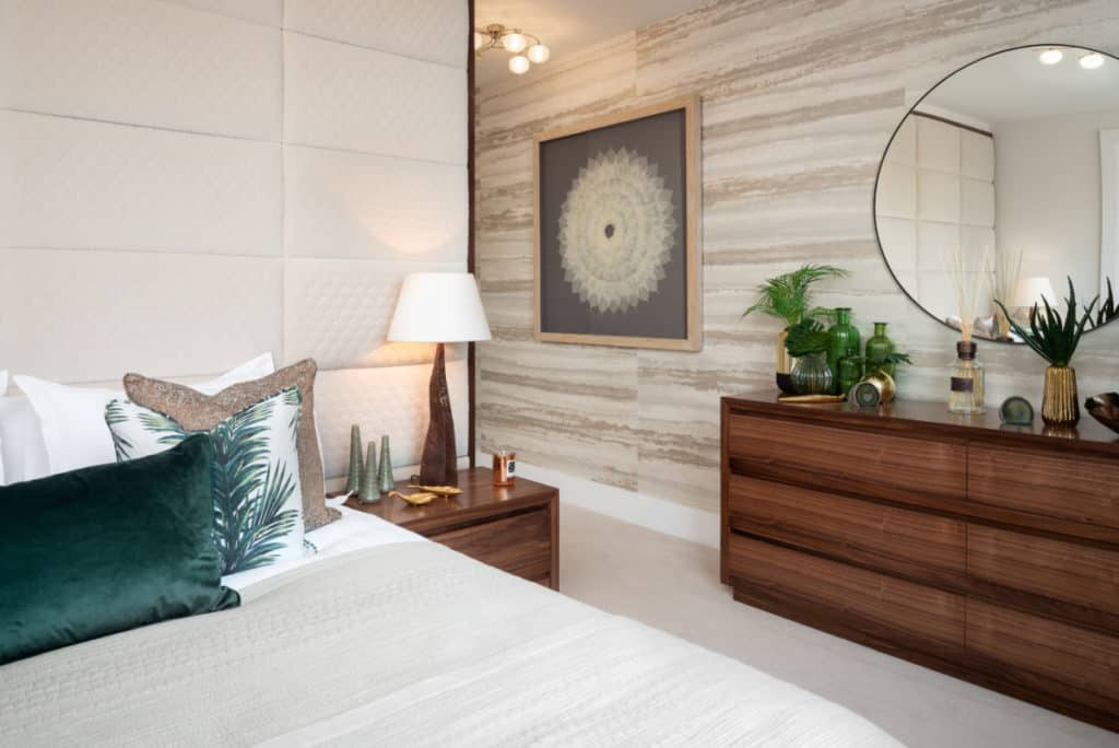Have you thought of textured walls to create coziness in a bedroom?