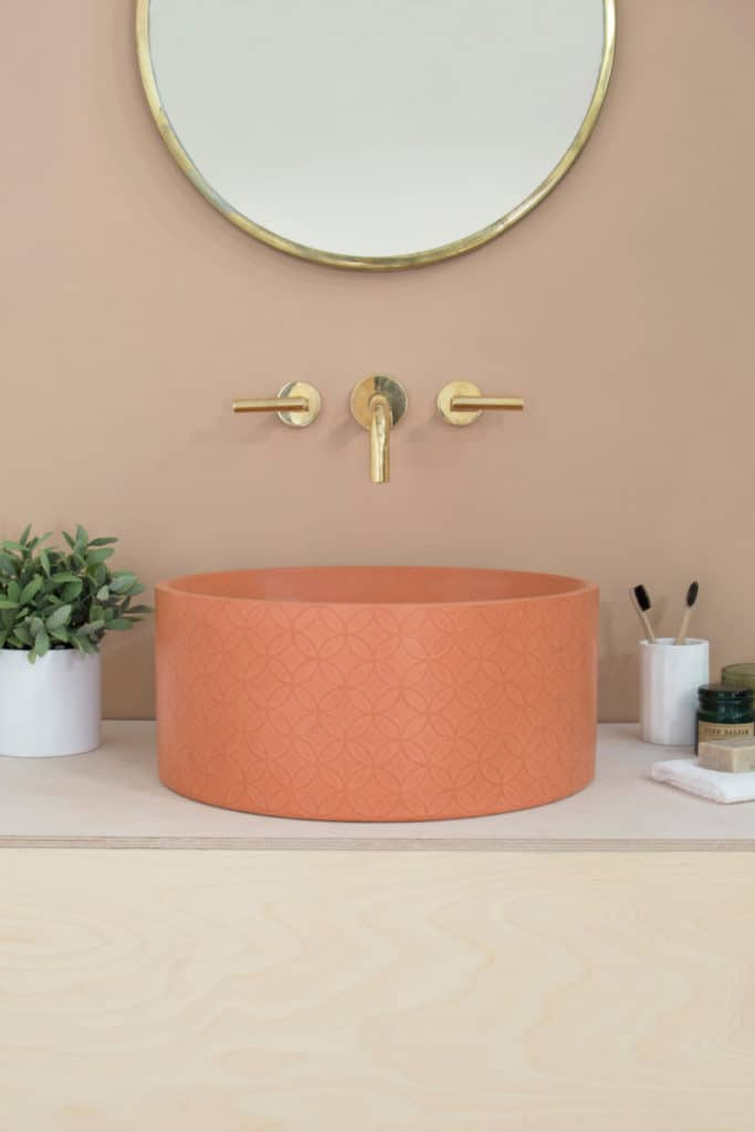 Peachy pretty Mara Basin from Kast Concrete Basins (image credit: Living Etc)