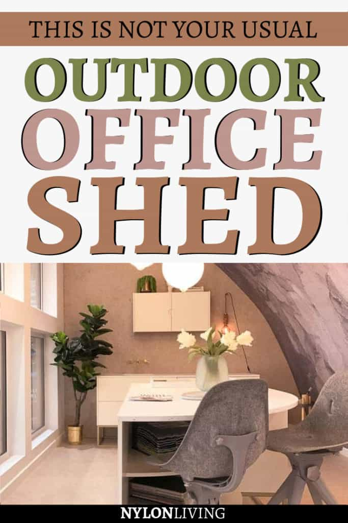 This is not your usual outdoor office shed