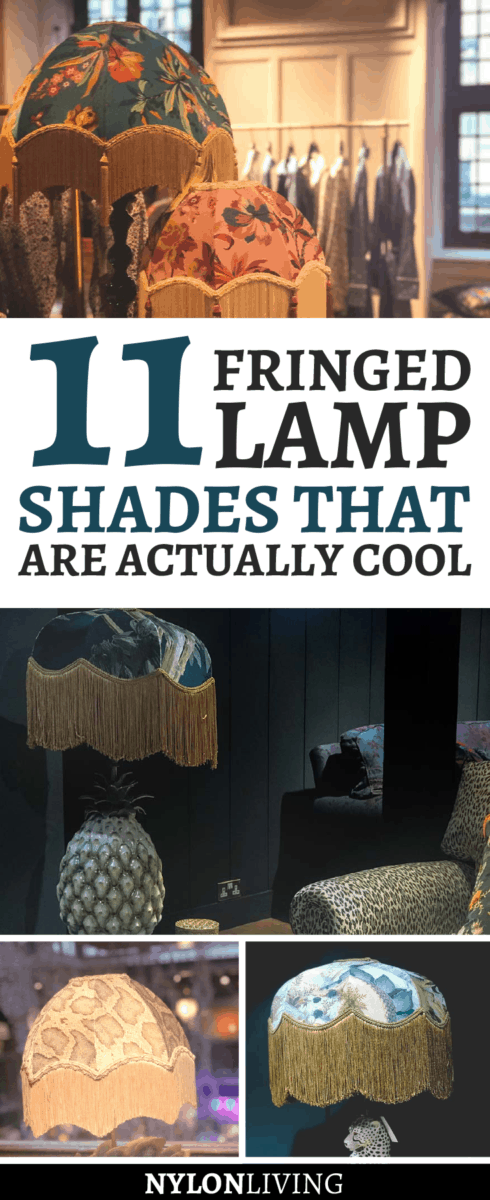 When you think of fringed lamp shades do you think of those Victorian fringe lamp shades that a Miss Havisham would have in a dark and fussy interior? Think again. Fringe on anything is having a big resurgence thanks to the love of boho and eclectic interiors. Not only can you have plain lamp shades with fringe but also options like a fringe chandelier and a fringed ceiling light. Check out 11 lampshades with fringe that are totally cool! #lamp #lampshades #fringes #lampdesign #lampdecor