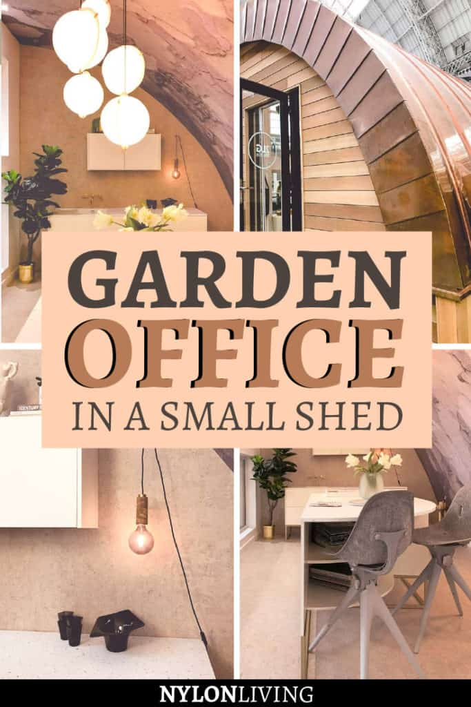 garden office in a small shed