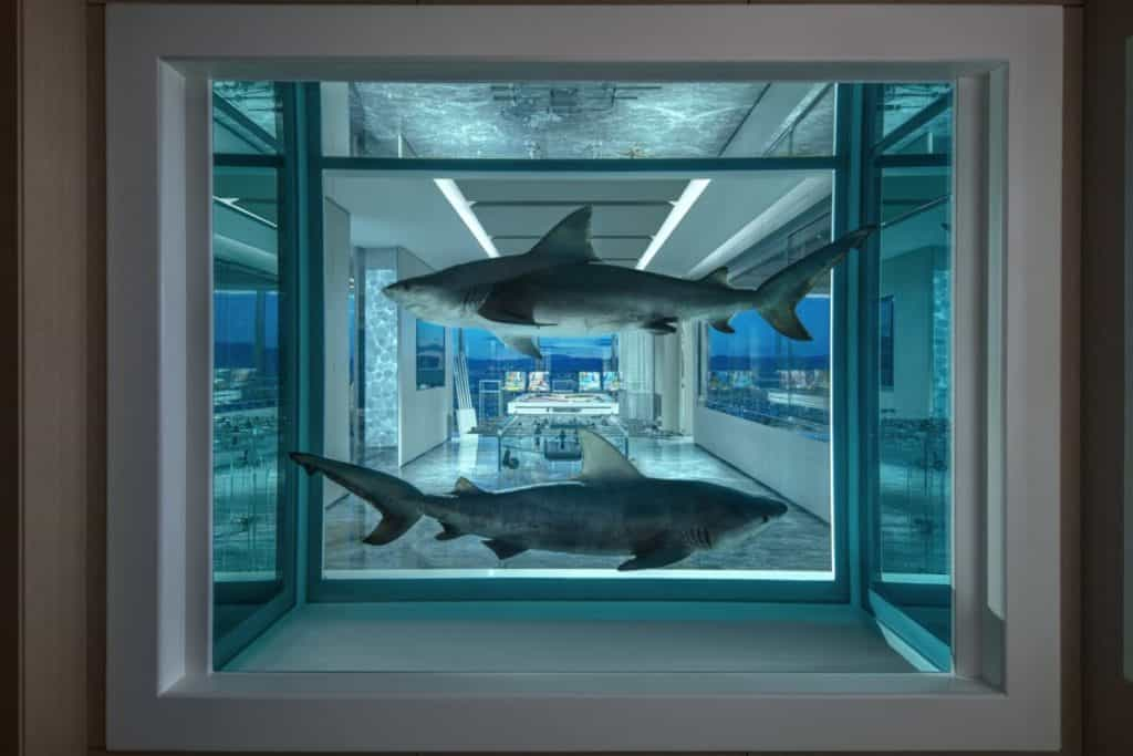 Winner and Loser is the name of this Hirst Shark Art in formaldehyde. Is the point that winners and losers both wind up dead?