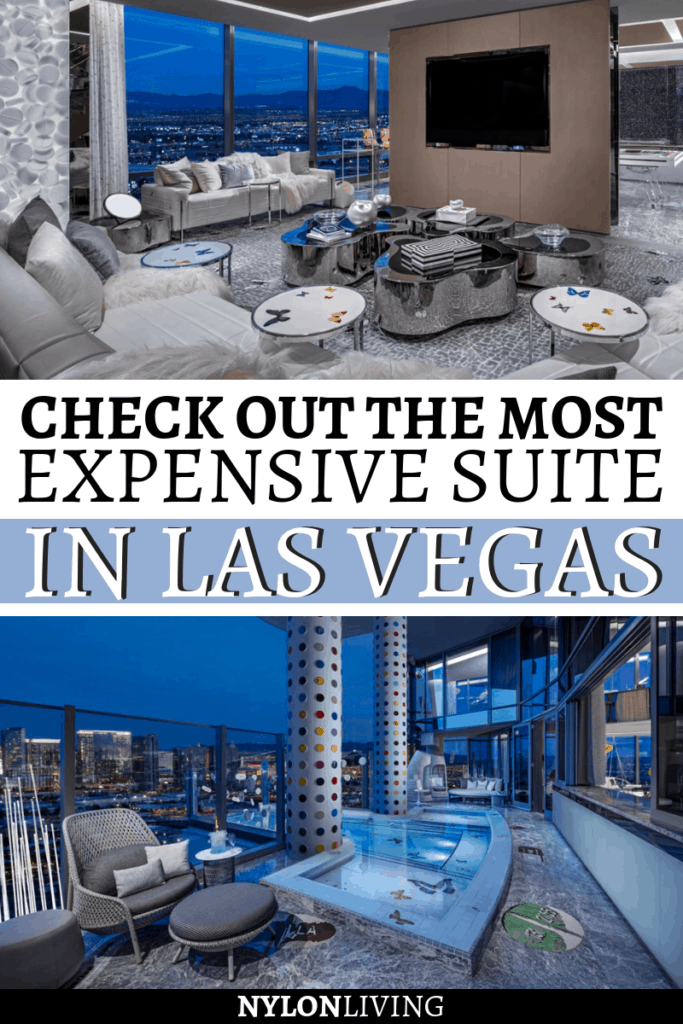 The most expensive suite in Vegas (and possibly the most expensive suite in the world) is at the Vegas Palms Casino. The Palms Las Vegas Suites are already OTT so what can be the cherry on top? The Empathy Suite in the Palms Sky Villa is also a Damien Hirst Gallery filled with priceless art. The extravagant suite though does have a price – $100K a night! Check out what makes it special! #lasvegas #unitedstates #suite #luxury
